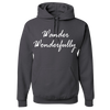 Travel Themed Hoodie: Wander Wonderfully Gray