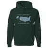 Travel Themed Hoodie: Travel From Sea to Shining Sea Green
