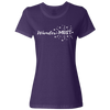 Travel Themed T-Shirt: Wander-MUST Ladies Purple
