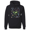 Travel Themed Hoodie: Iconic Places Black