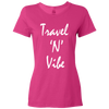 Travel Themed T-Shirt: Travel N Vibe Ladies Pink