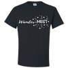 Travel Themed T-Shirt: Wander-MUST Black