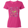 Travel Themed T Shirt: Iconic Places Ladies Pink