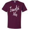 Travel Themed T-Shirt: Travelin' Vibes Maroon