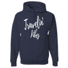 Travel Themed Hoodie: Travelin' Vibes Navy Blue