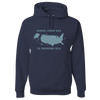 Travel Themed Hoodie: Travel From Sea to Shining Sea Navy Blue