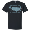 Travel Themed T Shirt: Travel From Sea to Shining Sea Black