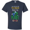 Travel Themed T-Shirt: Free to Move About the Planet Navy Blue