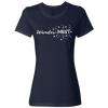 Travel Themed T-Shirt: Wander-MUST Ladies Navy Blue