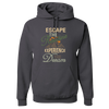Travel Themed Hoodie: Escape the Routine Dark Gray