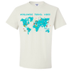 Travel Themed T-Shirt: Worldwide Travel Vibes Graphic