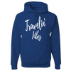 Travel Themed Hoodie: Travelin' Vibes Royal Blue