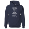 Travel Themed Hoodie: Ride or Fly Chick Navy Blue
