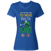 Travel Themed T-Shirt: Free to Move About the Planet Ladies Royal Blue