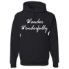 Travel Themed Hoodie: Wander Wonderfully Black