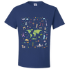 Travel Themed T Shirt: Iconic Places Royal Blue