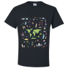 Travel Themed T Shirt: Iconic Places Black
