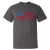 Travel Themed T-Shirt: Travel Flag Gray
