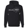 Travel Themed Hoodie: Wander-MUST Black