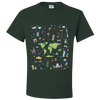 Travel Themed T Shirt: Iconic Places Green
