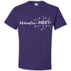 Travel Themed T-Shirt: Wander-MUST Purple