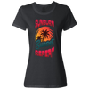 Travel Themed T-Shirt: Sunburn Sunset Repeat Ladies Black