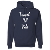 Travel Themed Hoodie: Travel N Vibe Navy Blue