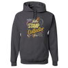 Travel Themed Hoodie: Stamp Collector Dark Gray