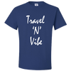 Travel Themed T-Shirt: Travel N Vibe Royal Blue
