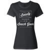 Travel Quote T-Shirt Beach Goer Ladies Black