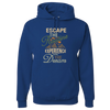 Travel Themed Hoodie: Escape the Routine Royal Blue