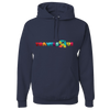 Travel Themed Hoodie: Travels R Us Navy Blue