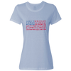 Travel Themed T-Shirt: Travel Flag Ladies Light Blue