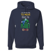 Travel Themed Hoodie: Free to Move About the Planet Navy Blue