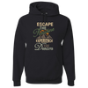 Travel Themed Hoodie: Escape the Routine Black