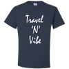 Travel Themed T-Shirt: Travel N Vibe Navy Blue