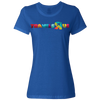 Travel Themed T-Shirt: Travels R Us Ladies Royal Blue