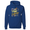Travel Themed Hoodie: Stamp Collector Royal Blue