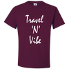Travel Themed T-Shirt: Travel N Vibe Maroon