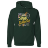 Travel Themed Hoodie: Stamp Collector Green