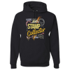 Travel Themed Hoodie: Stamp Collector Black