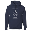 Travel Themed Hoodie: Tourist vs Traveler Hoodie White Words Navy Blue