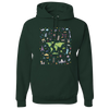 Travel Themed Hoodie: Iconic Places Green