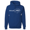 Travel Themed Hoodie: Wander-MUST Royal Blue