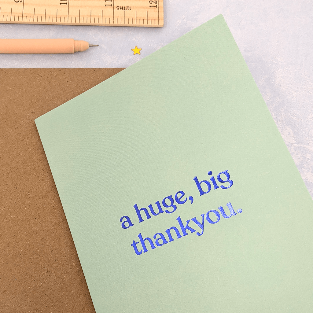 A Huge Big Thankyou Thank You Card by Amy Wicks - Whale and Bird
