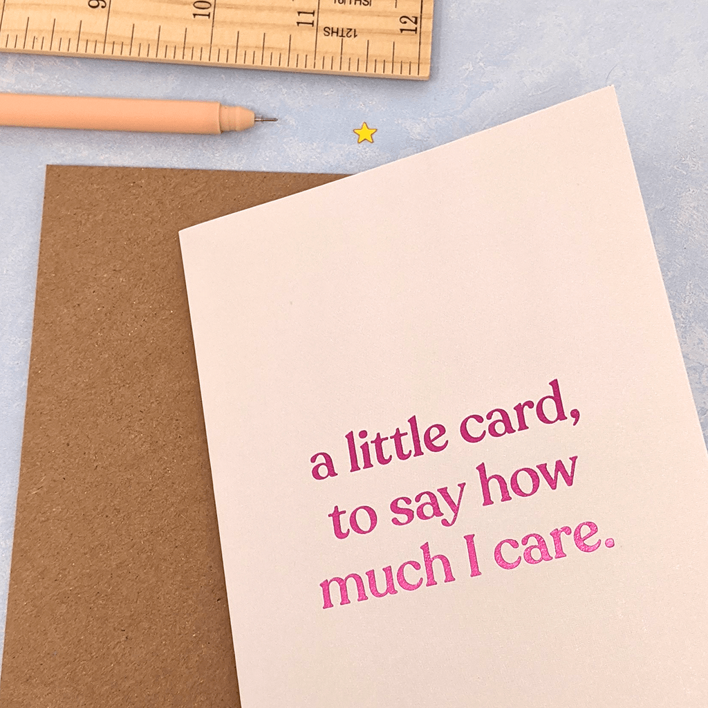 A Little Card To Say How Much I Care Greeting Card by Amy Wicks - Whale and Bird