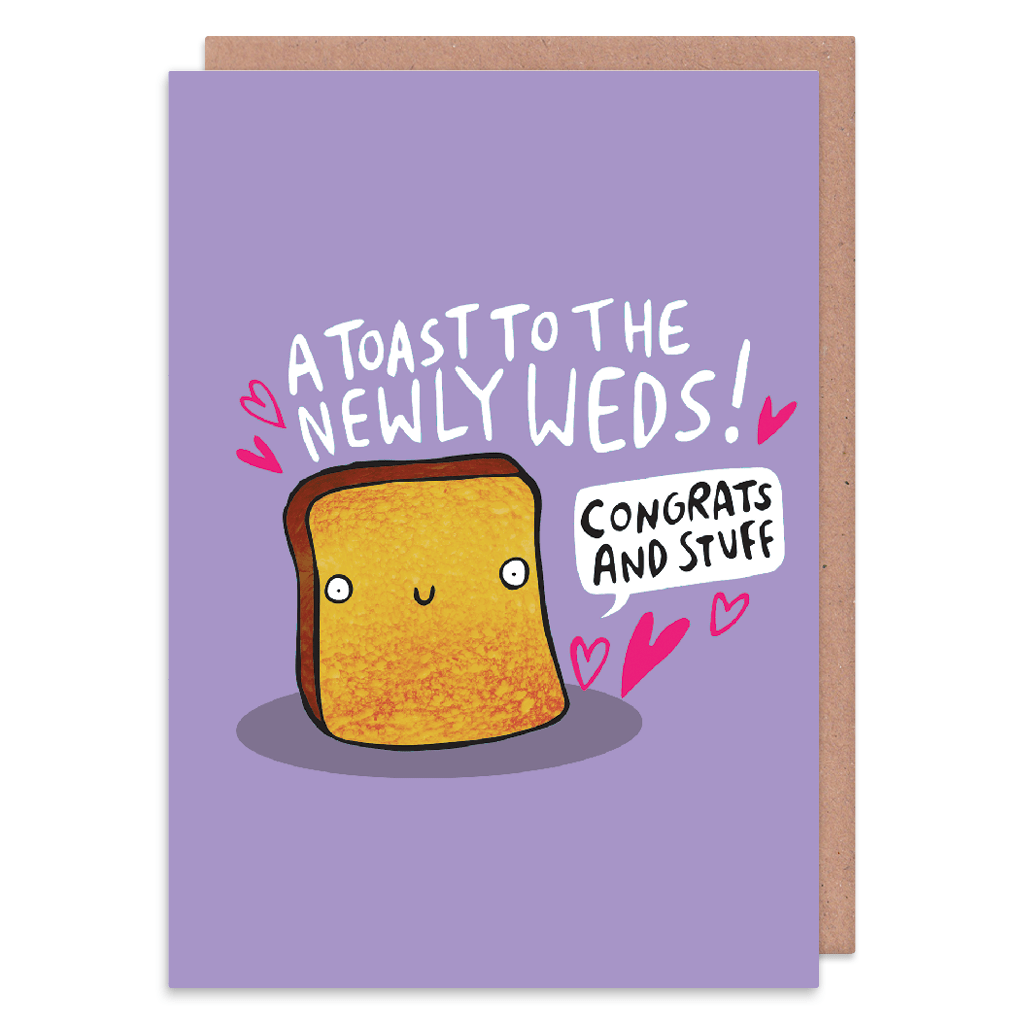 A Toast To The Newlyweds Wedding Card by Katie Abey - Whale and Bird