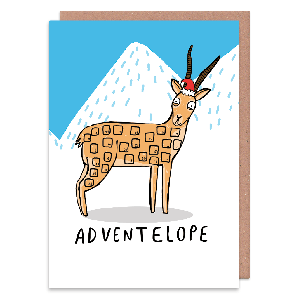 Adventelope Christmas Card by Katie Abey - Whale and Bird