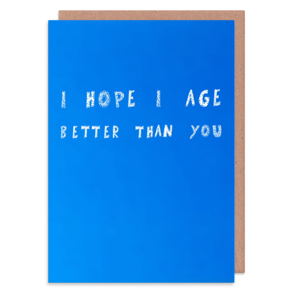 I Hope I Age Better Than You Greeting Card by George The Cardmaker - Whale and Bird