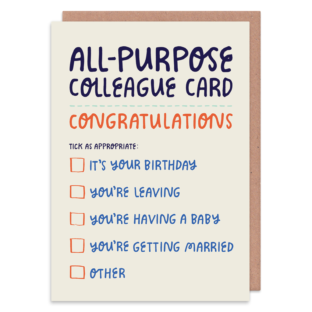 All Purpose Colleague Greeting Card by Lisa Greener - Whale and Bird